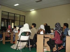 Sebagian dari Peserta Pelatihan Blog
