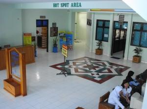 Hotspot area di loby kantor Direktorat Poltekkes Depkes Jogja