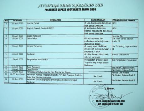 agenda dies poltek 2009